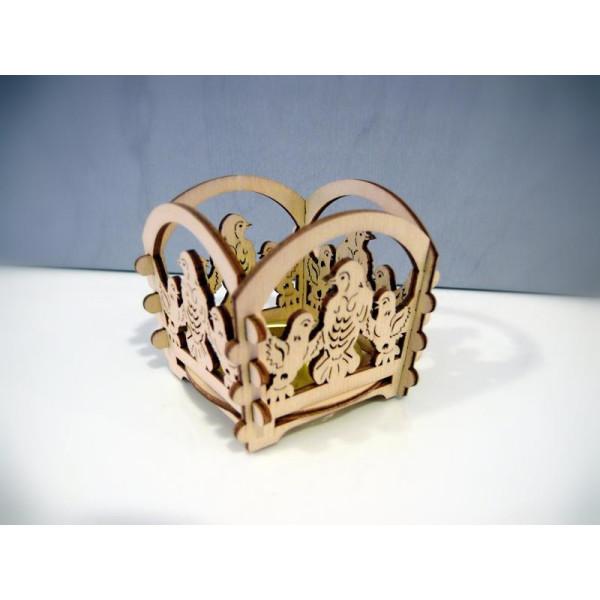 Teelichthalter Mini Vogel (L/H/T):6,0cmx6,0cmx6,0cm NEU