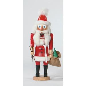 Nußknacker Weihnachtsmann mit Geschenkesack rot Höhe= 41cm NEU