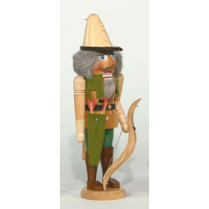 Nußknacker Robin Hood mit Pfeil & Bogen Höhe= 42cm NEU