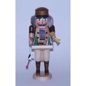 Nußknacker Spielzeughändler mit Bauchladen Höhe= 36cm NEU