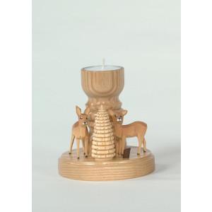 Teelichthalter Rehe mit Ringelbaum Höhe= 11cm NEU