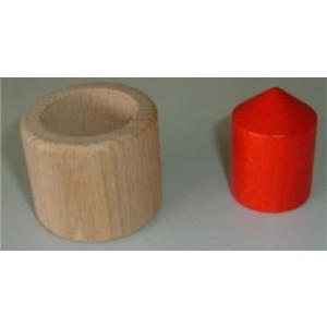 """Holzspielzeug Knobelspiel """"Unfassbar"""" Ø=4,5cm, H=4,5cm NEU"""