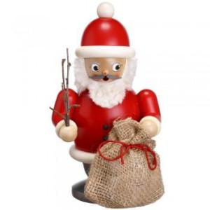 Räucherfigur Weihnachtsmann mit Geschenkesack bunt Höhe 20 cm NEU