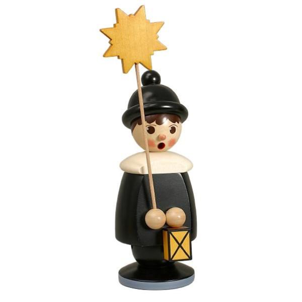 Miniaturfiguren Frierendes Kurrendekind mit Stern rot Höhe 19cm NEU