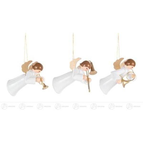 Baumschmuck Behang Schwebeengel weiß (6) Breite x Höhe x Tiefe 3,5 cmx5,5 cmx3 cm NEU