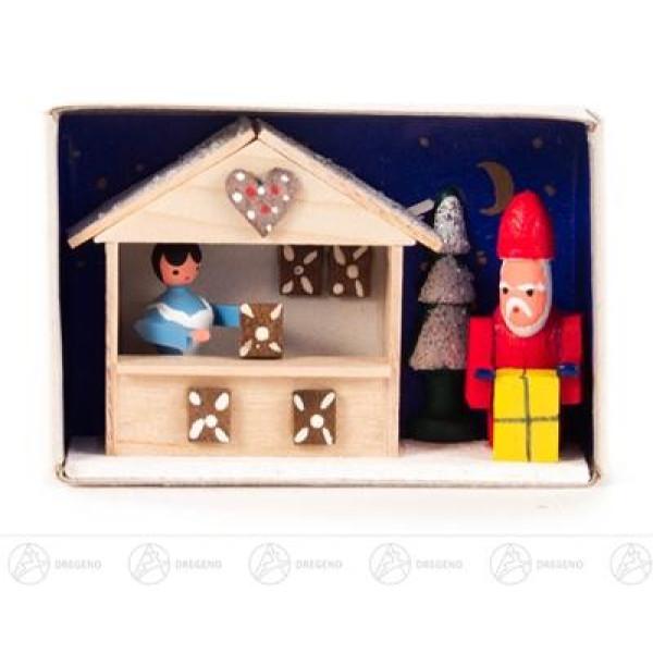 Miniatur Zündholzschachtel Weihnachtsmarkt Breite x Höhe ca 5,5 cmx4 cm NEU