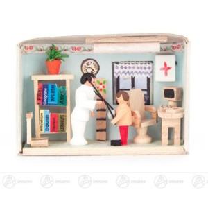 Miniatur Zündholzschachtel Arzt Breite x Höhe ca 5,5 cmx4 cm NEU