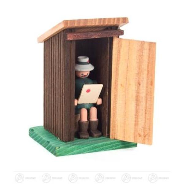 Miniatur Toilettenhäuschen mit Junge Höhe ca 7 cm NEU