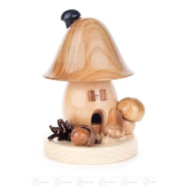 Räuchermann Räucherpilz Glockenform, groß Breite x Höhe x Tiefe 10 cmx14 cmx11 cm NEU