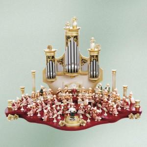 Zubehör Holzfigur Mozart- Orchester NUR 3.Bühne Maße ca 60 x 27cm NEU