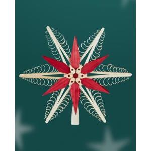 Baumschmuck Christbaumspitze Mitte mit 2 Sterne Rot(Beidseitig) BxHxT=30x28x4,5cm NEU