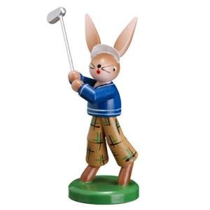 """Hasenmann """"Golfer"""", blaue Jacke Höhe ca = 8,0 cm NEU"""