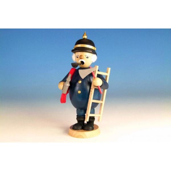 Räuchermann Feuerwehrmann mit Leiter Höhe=16,5cm NEU