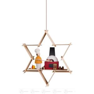 Behang Weihnachtsbäckerei Höhe = 9,5cm NEU