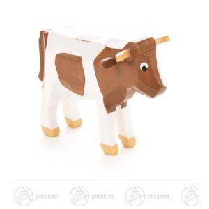 Holztier Kuh weiß/schwarz Höhe = 3,5cm NEU