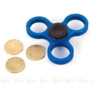 Fidget Spinner Kreisel Twist Anti Streß klein, blau (für 20-Cent-Münzen) BxHxT = 7,5x2x7,5cm NEU