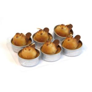Teelicht ''Spatz'' braun LxBxH 14 x 9,5 x 4,5 cm NEU
