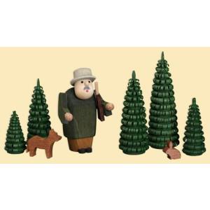 Miniatur Förster im Wald Höhe = 8cm NEU