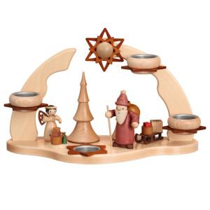 Adventsbogen Weihnachtsmann mit Engel HxLxB 32x35x16cm NEU