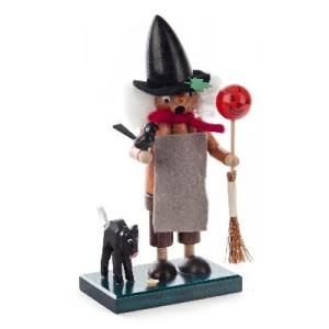 Mini Räucherfrau Hexe mit Katze BxHxT 80x155x60mm NEU