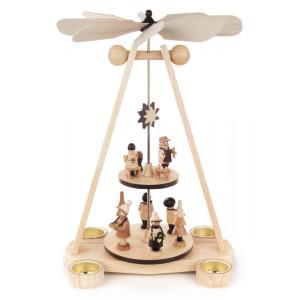 Teelichtpyramide zweistöckig Spielwarenmacher BxHxT 25x40x19cm NEU