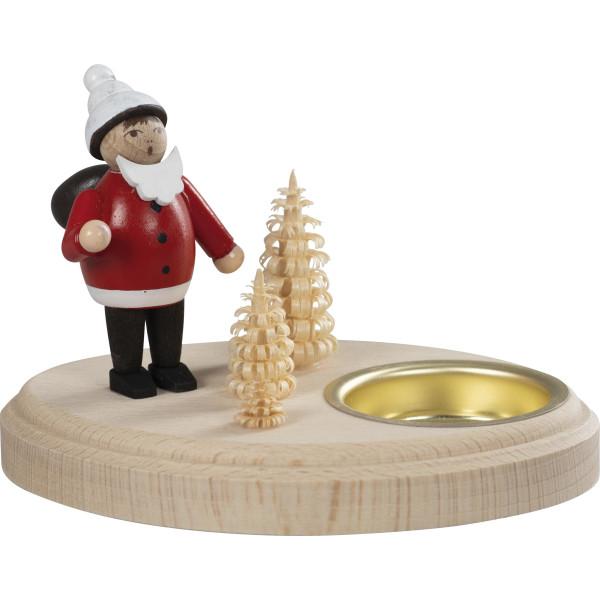 Leuchter Weihnachtsmann, rot für 1 Teelicht Ø 10 cm NEU
