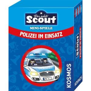 Gesellschaftsspiel Scout Minispiel - Polizei im Einsatz 92x73x27mm (LxBxH) NEU