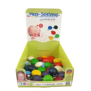 Babyspielzeug Display mit 28 Holzclipsen BxLxH 35x20x50mm NEU
