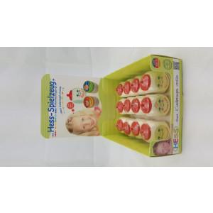 Babyspielzeug Display mit 12 Holzdosen BxLxH 40x40x55mm NEU
