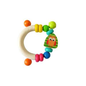 Babyspielzeug Rassel Eule BxLxH 100x100x50mm NEU