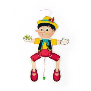 Holzspielzeug Hampelmann Pinocchio BxLxH 200x25x430mm NEU