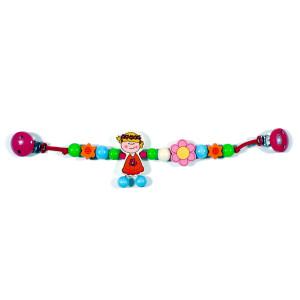 Babyspielzeug Kinderwagenkette Blumenmädchen BxLxH 460x20x80mm NEU