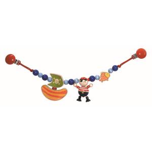 Babyspielzeug Kinderwagenkette Pirat mit Schiff BxLxH 490x30x90mm NEU