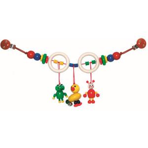 Babyspielzeug Kinderwagenkette Ente & Frosch BxLxH 520x50x140mm NEU