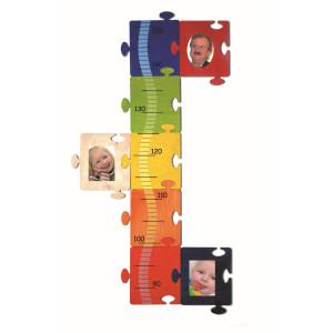 Holzdekoration Messlatte Bilder-Puzzle BxLxH 370x10x680mm NEU