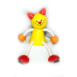 Holzspielzeug Schwingfigur Katze BxLxH 100x70x130mm NEU