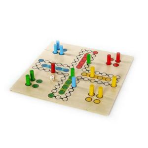 """Holzspielzeug Brettspiel """"Raus mit Dir"""" 4 Personen BxLxH 300x300x40mm NEU"""