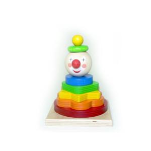 Holzspielzeug Stapelturm Clown BxLxH 90x90x140mm NEU