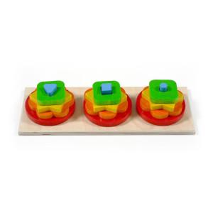Holzspielzeug Stapel-Sortierspiel BxLxH 60x280x100mm NEU