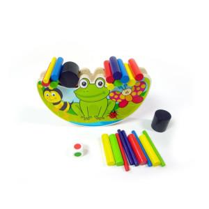Holzspielzeug Balancespiel Frosch BxLxH 170x65x120mm NEU