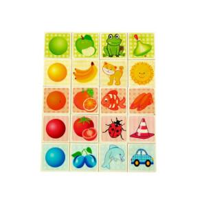 Holzspielzeug Farbenspiel mit bunten Motiven BxLxH 200x3x250mm NEU