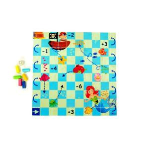 Holzspielzeug Brettspiel Unterwasserwelt BxLxH 300x300x40mm NEU