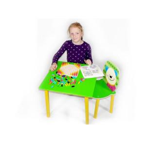 Zimmerdekoration Kindertisch grün BxLxH 500x500x430mm NEU