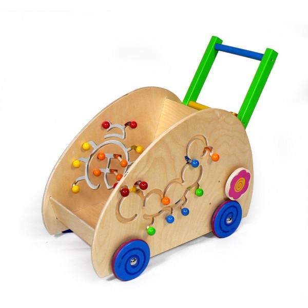 Holzspielzeug Lauflernwagen BxLxH 600x300x500mm NEU