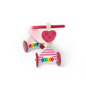 Holzspielzeug Rutscher mit Herz rosa BxLxH 410x190x340mm NEU
