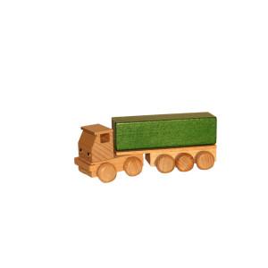 Holzspielzeug Sattelzug mit Pritsche bunt Länge ca. 15 cm NEU