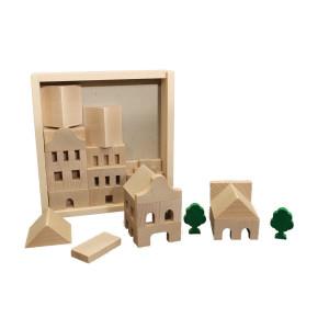 Holzspielzeug Architekturbaukasten Nr. 1 BxHxT 19,5x20,5x4,5cm NEU