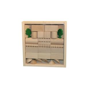 Holzspielzeug Architekturbaukasten Nr. 2 BxHxT 19,5x20,5x4,5cm NEU