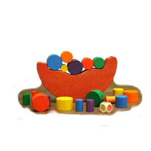 Holzspielzeug Balancespiel bunt BxHxT 16x19x3cm NEU