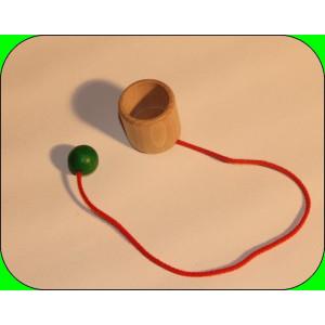 Holzspielzeug Fangbecher BxT 3,7x3,7cm NEU